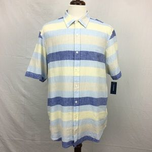 Club Room Blue Striped Button Down Shirt